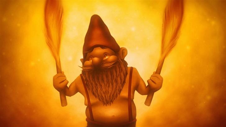 Fire Gnome Mac Wallpaper