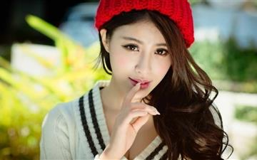 Asian girl Portrait Mac wallpaper