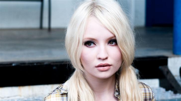 Emily Browning Blonde Hair Mac Wallpaper