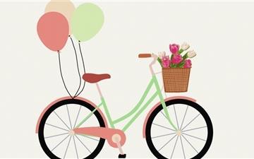 Retro Bicycle Mac wallpaper