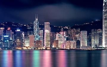Hong Kong Skyscrapers Mac wallpaper