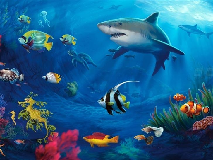 Underwater Life Mac Wallpaper