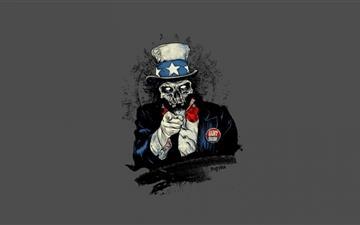 Uncle Sam Zombie Mac wallpaper