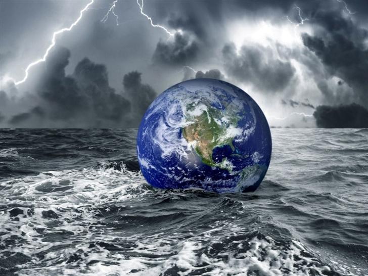Floating Earth Mac Wallpaper