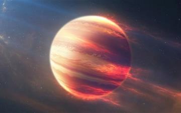 Space Fire Planet Mac wallpaper