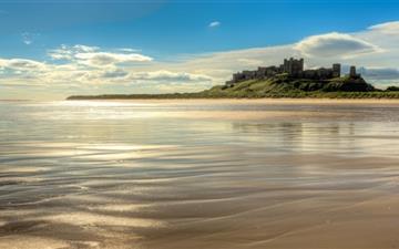Bamburgh Castle Beach Northumberland Mac wallpaper