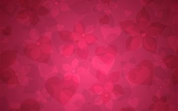 Red Floral Pattern Mac wallpaper