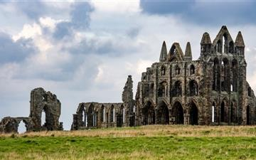 Famous Whitby Abbey Monastery Ruins Mac wallpaper