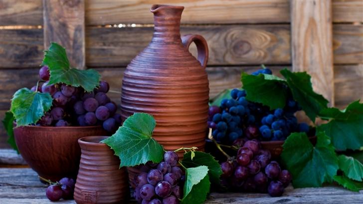 Grapes Fruits Autumn Mac Wallpaper