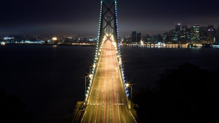 Lighted Bridge Mac Wallpaper