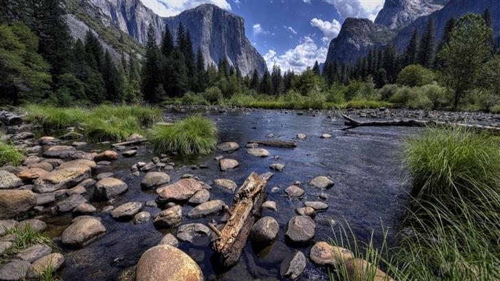 Merced River And Yosemite Valley Mac Wallpaper