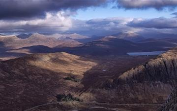 Panoramic View of Mountains Mac wallpaper