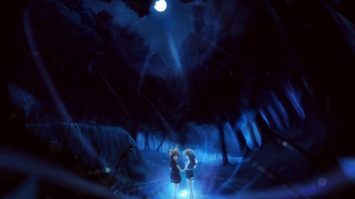 Night Anime Mac Wallpaper
