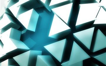Shattered 3d sphere Mac wallpaper
