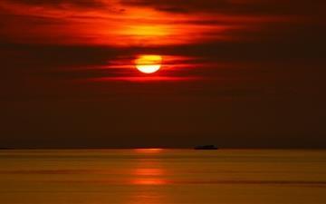 Beautiful Red Sunset Mac wallpaper