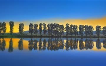 Fishing Lake Sunset Mac wallpaper