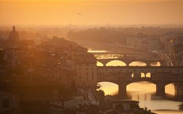 Golden Sunset Over Florence Italy Mac wallpaper