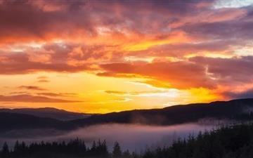Sunrise Trossachs Mac wallpaper