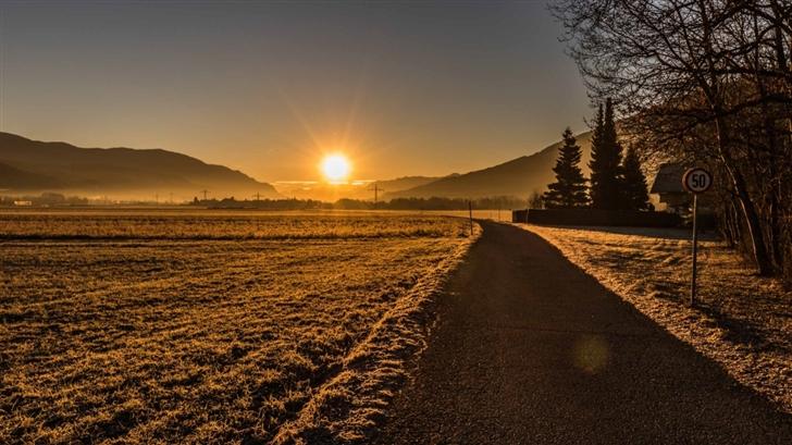 Sun Rise Mac Wallpaper