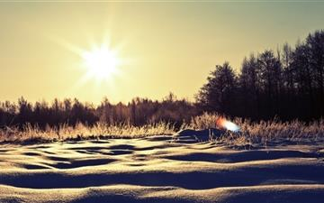 Sunny Snowy Day Mac wallpaper