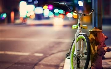Bicycle On The City Street All Mac wallpaper