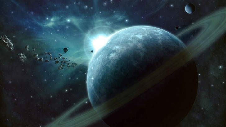 Asteroids Field Mac Wallpaper