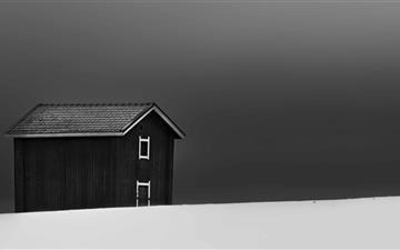 Barn In Finland Mac wallpaper