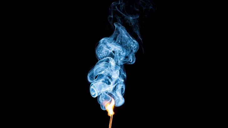 Burning Mamachstick With Smoke Mac Wallpaper