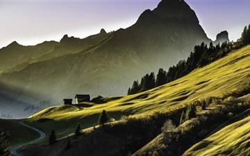 High Alpine Landscape Mac wallpaper
