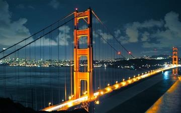 Night Golden Gate Bridge Mac wallpaper