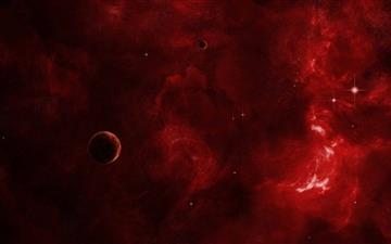 Red Nebula Mac wallpaper