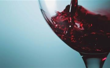 Red Wine Glass All Mac wallpaper