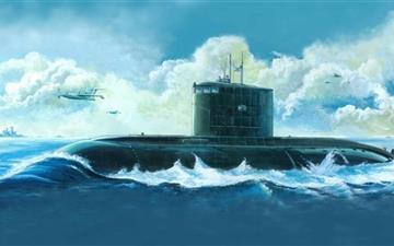 Submarine Painting  Mac wallpaper