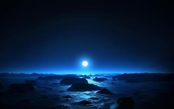 Blue Moon Mac wallpaper