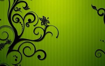 Black swirls Mac wallpaper