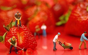 The Strawberries Mac wallpaper