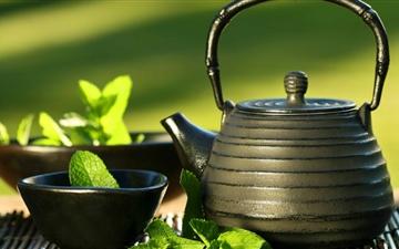Teapot And Cups Mac wallpaper