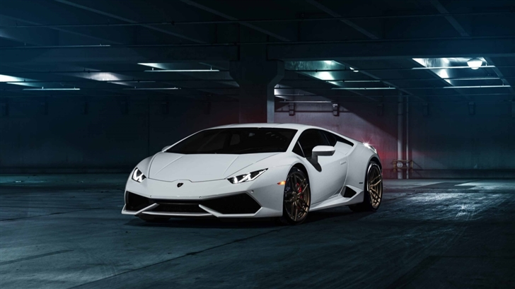 White Lamborghini Mac Wallpaper