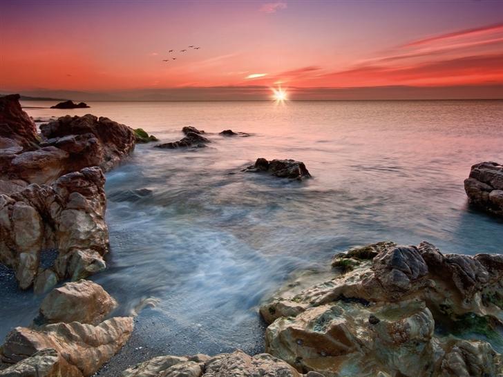 Beautiful horizon sunset Mac Wallpaper
