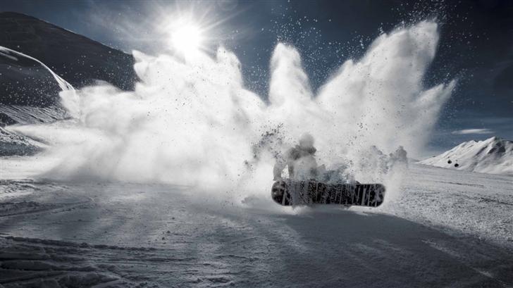 The Snowboarding Mac Wallpaper