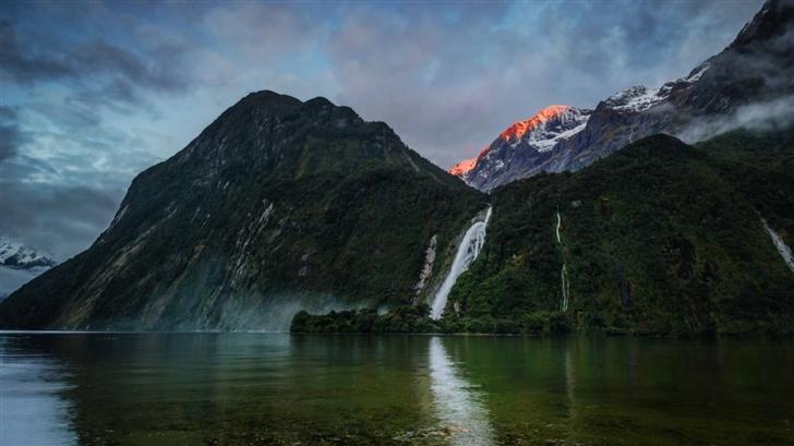 Waterfall In New Zealand Mac Wallpaper