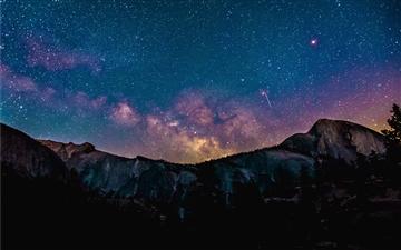Purple night sky Mac wallpaper