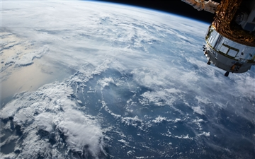 Ocean clouds seen from space Mac wallpaper