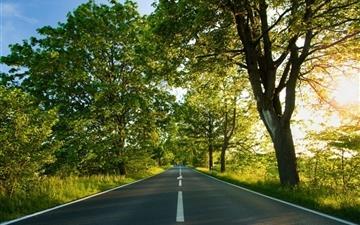 Road Summer Mac wallpaper