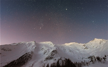 Stars and Sky in the Winter Mac wallpaper
