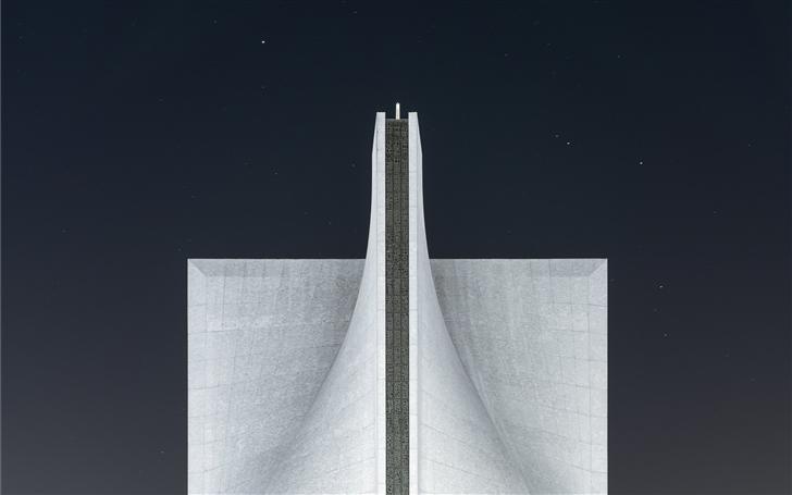 White modern cathedral Mac Wallpaper