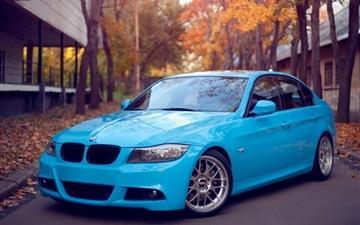 BMW Blue Road Mac wallpaper