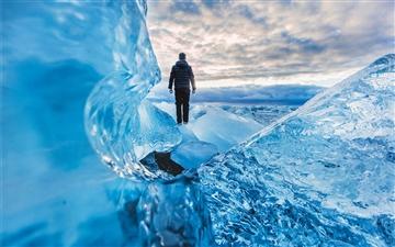 Ice Land Mac wallpaper