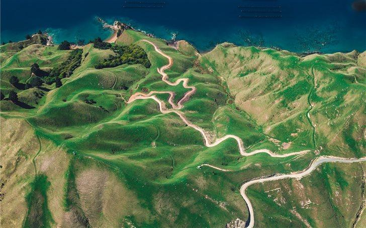 ridge by an ocean Mac Wallpaper
