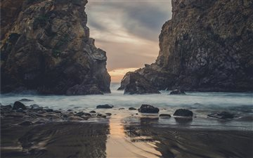 Pfeiffer Beach at Dusk Mac wallpaper